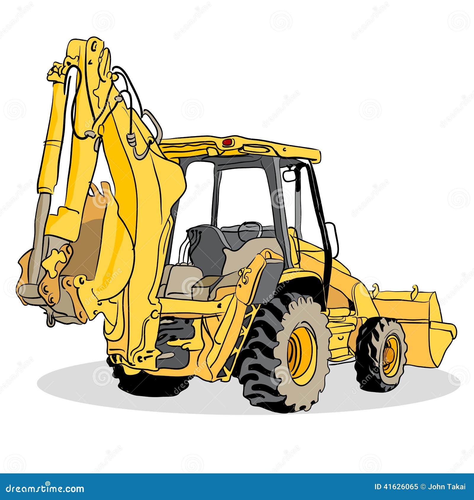 Backhoe Loader Vehicle Stock Vector - Image: 41626065