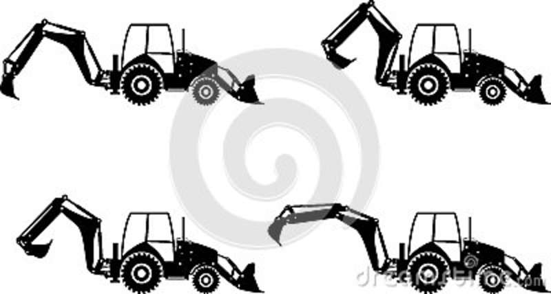 backhoe loaders heavy construction machines vector John Deere Tractor Clip Art Old Tractor Clip Art