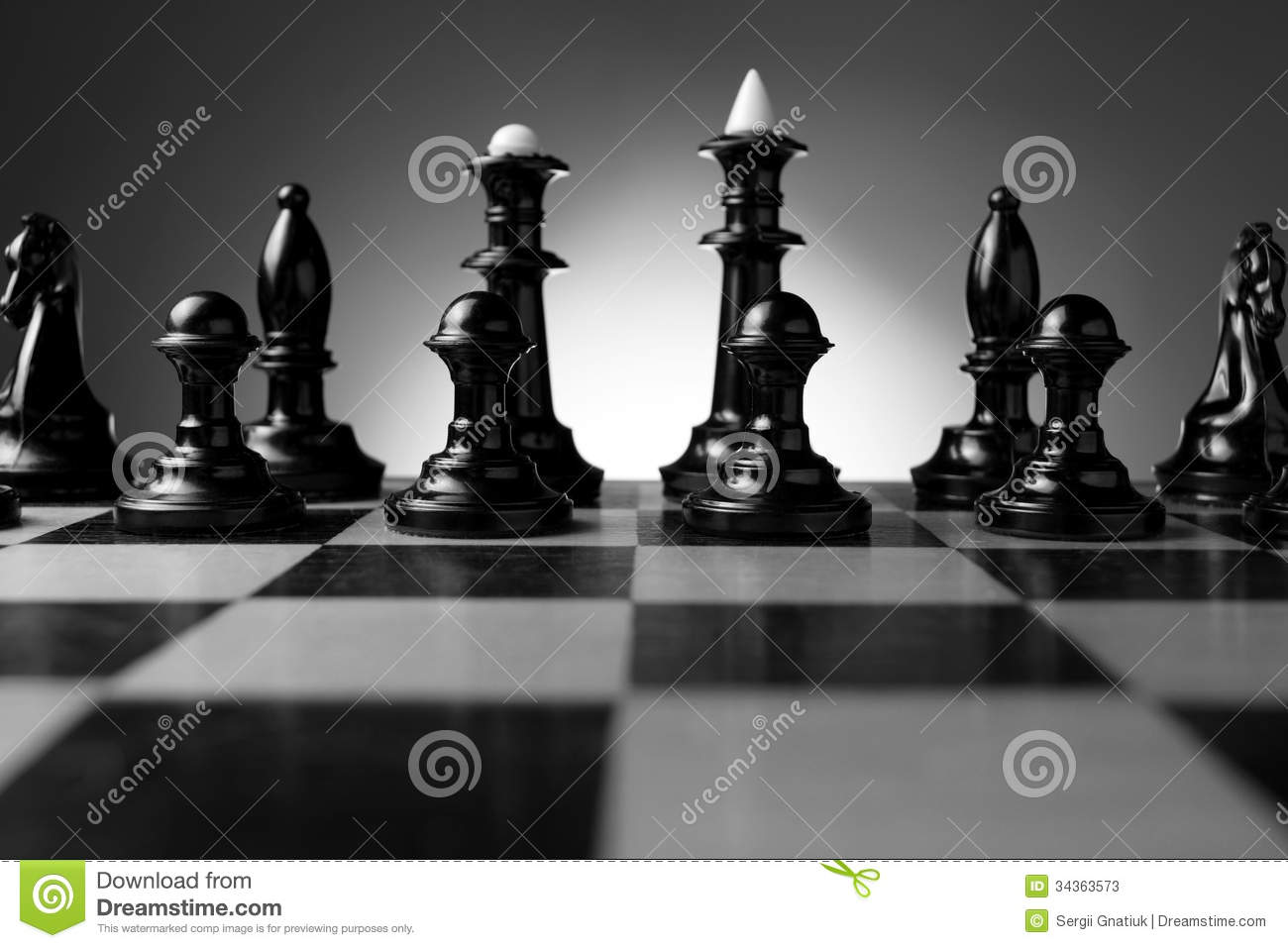 Backlit Chess Pieces On A Chessboard Stock Image - Image ...