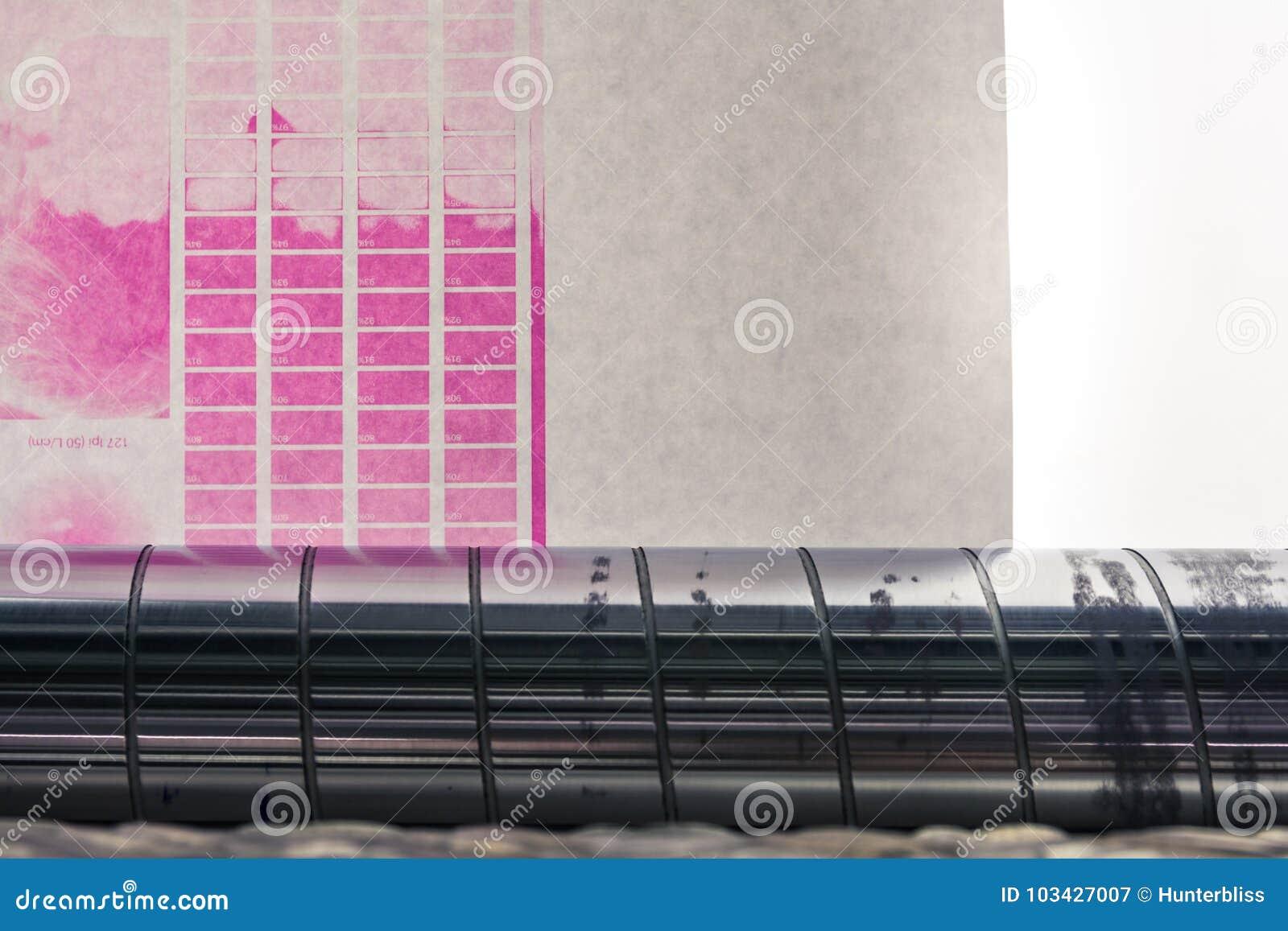 Backlit Flexography preparera kalibrering för prov för rengöringsdukrullförtitt
