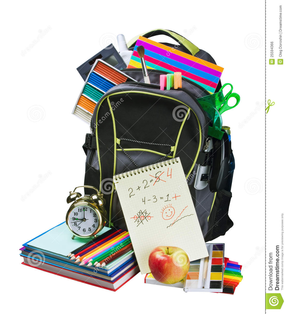 More similar stock images of ` Backpack full of school supplies `