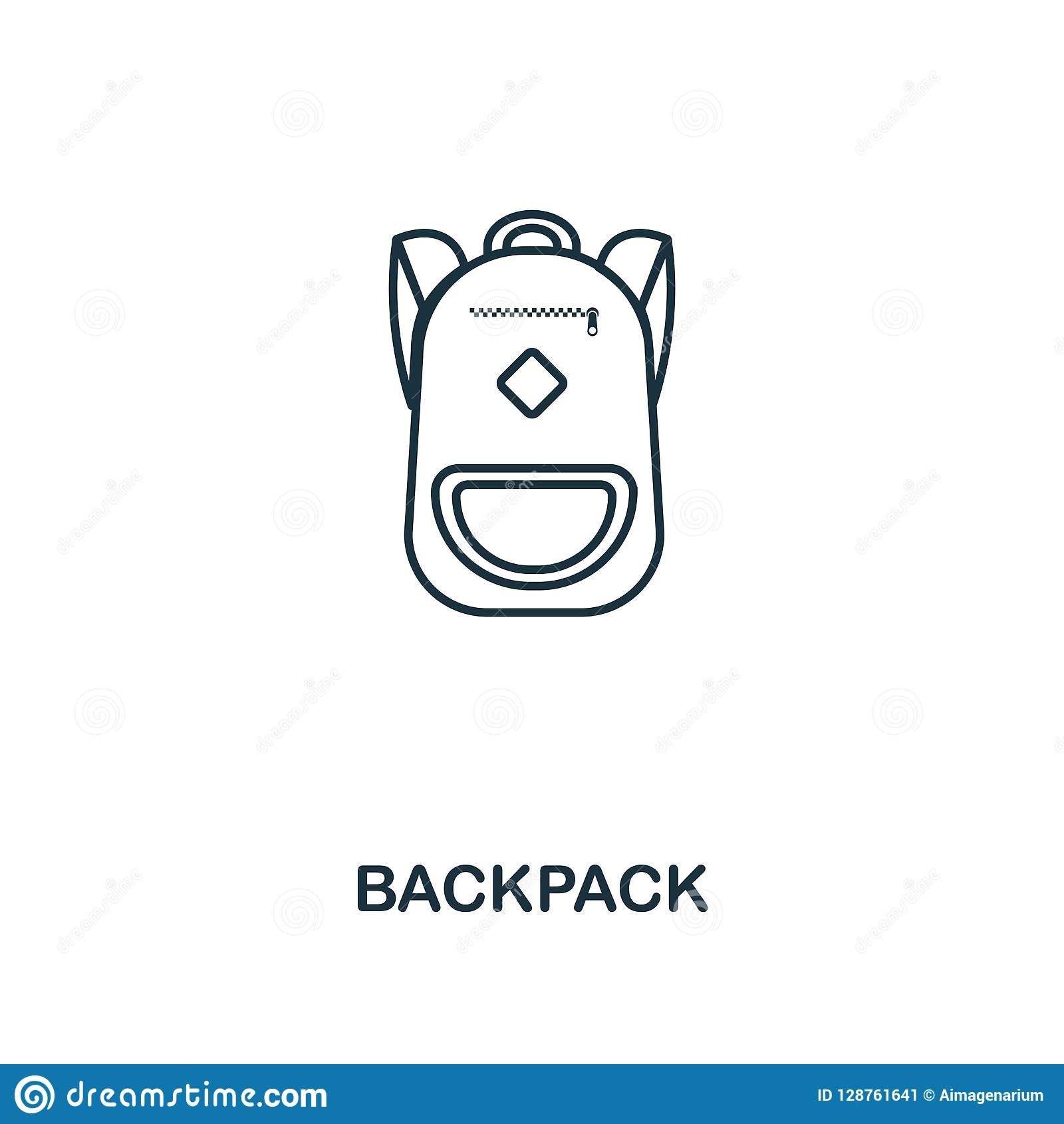 Backpack Outline Icon Creative Design From School Icon Collection Premium Backpack Outline Icon For Web Design Apps Software Stock Illustration Illustration Of Silhouette Graphic 128761641
