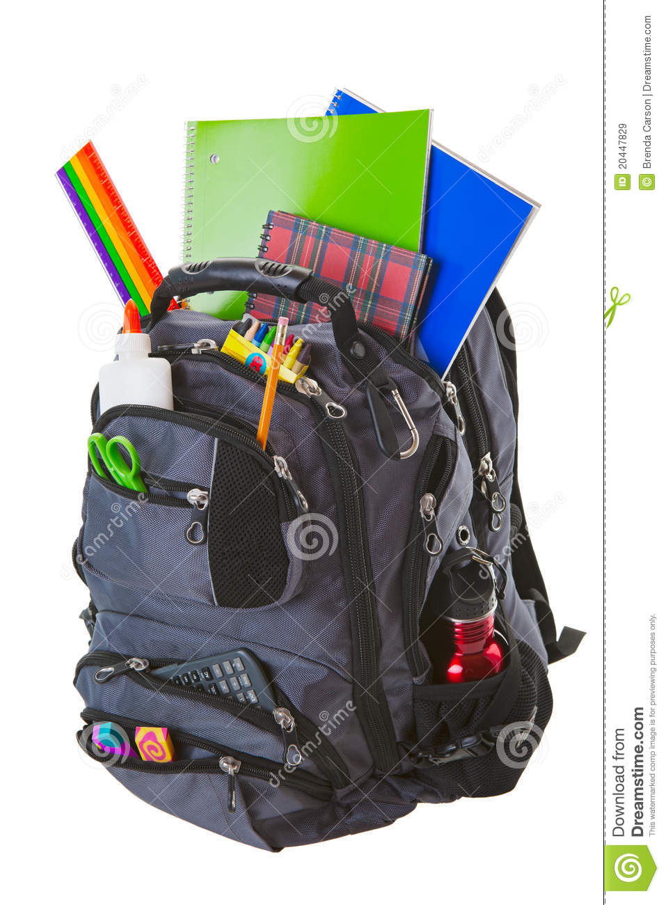 More similar stock images of ` Backpack With School Supplies `