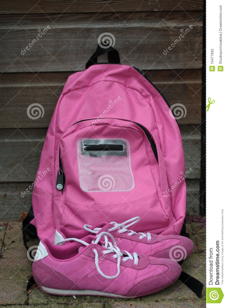 Backpack and sneekers
