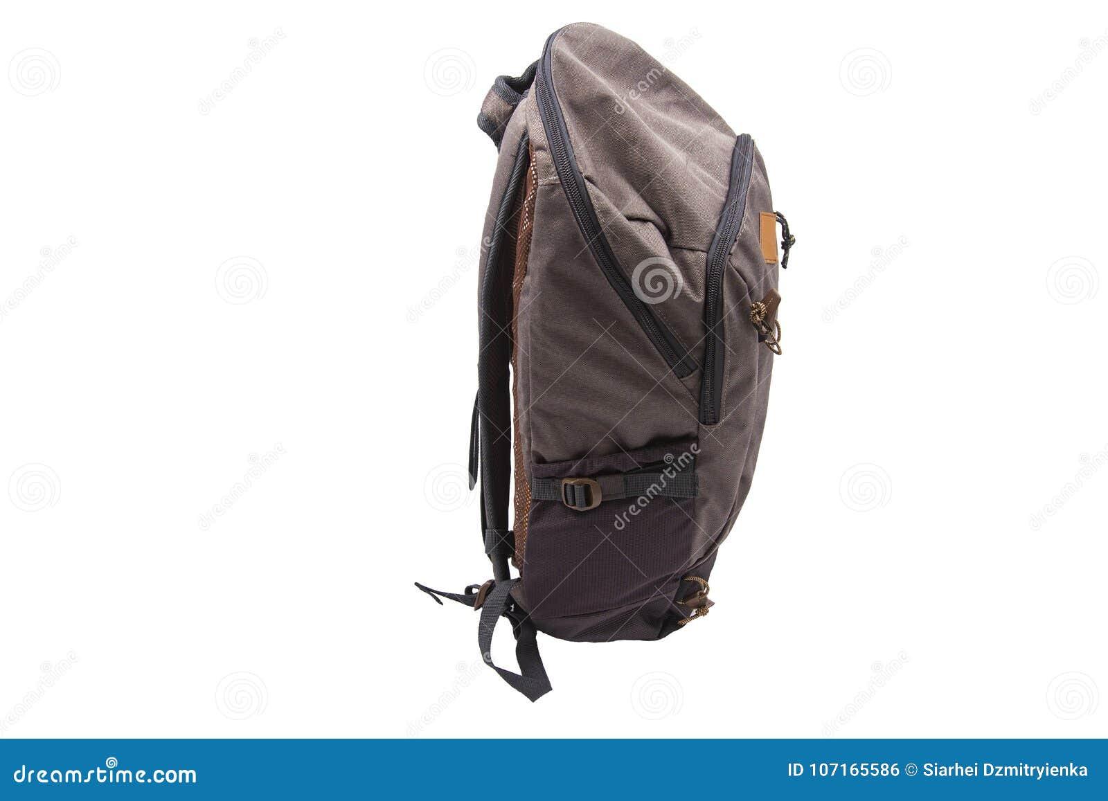 e7eb8b311d9579 Backpack Tourist Isolated On White Background. Traveler`s Bag. Stock ...