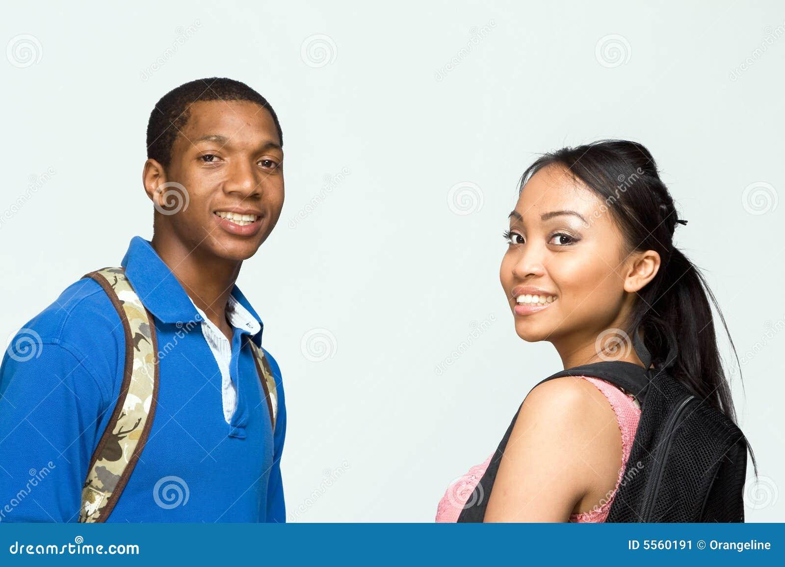 Backpacks horizontal students wearing