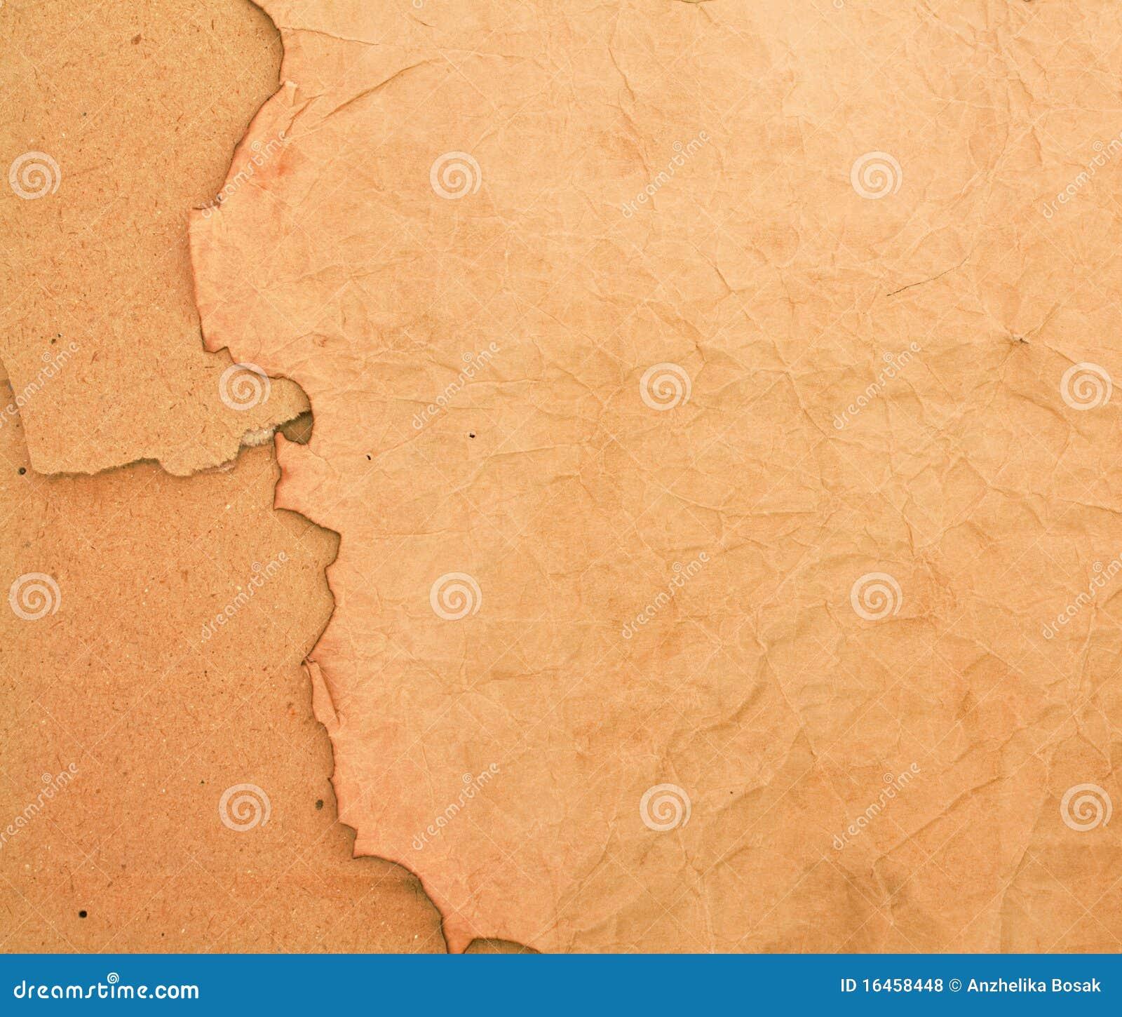 Backround chamuscado del papel y de la cartulina