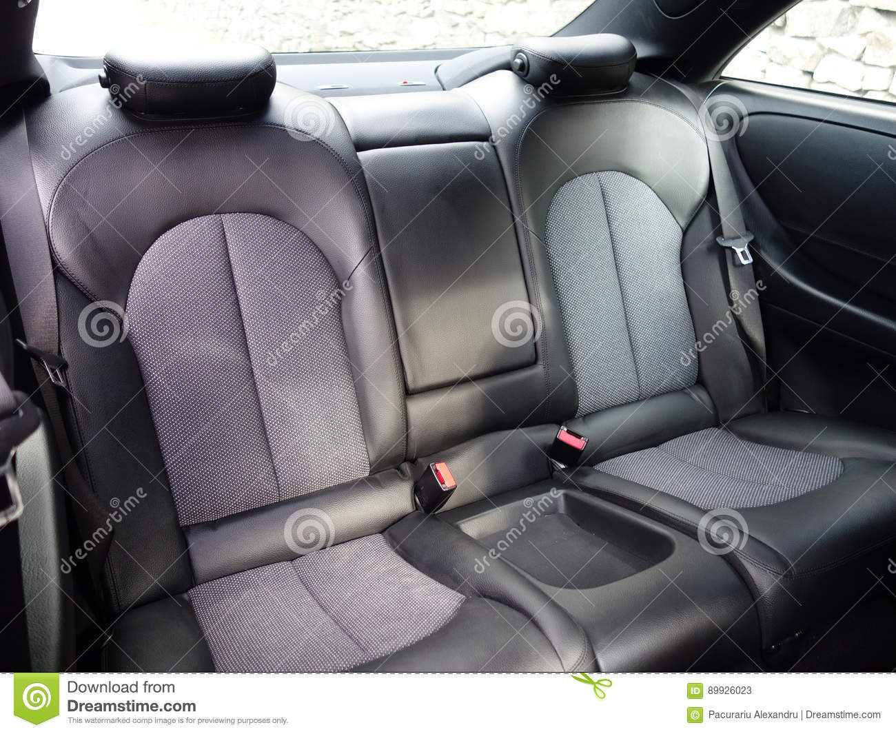 Backseat Leather Interior Design Luxury Car Coupe Fast Racing