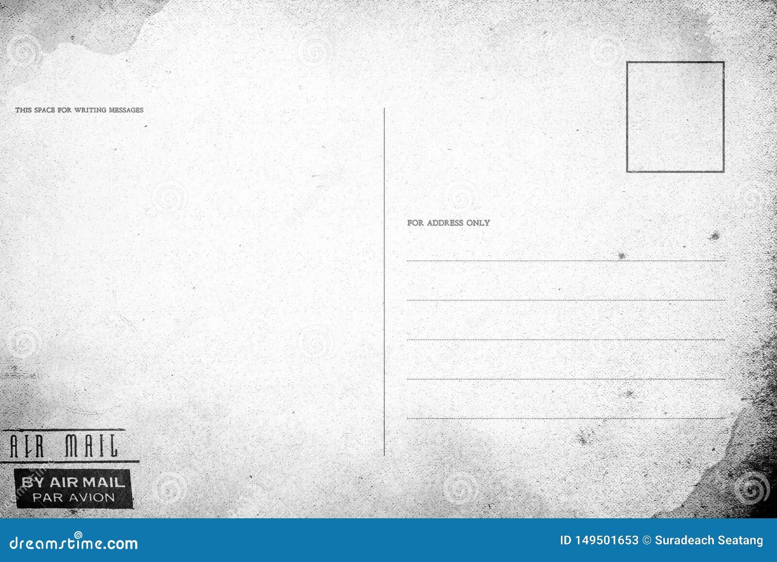 backside of blank postcard stock image image of letter