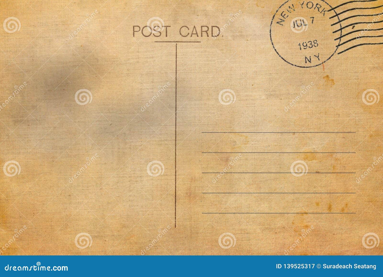 backside of blank postcard stock illustration