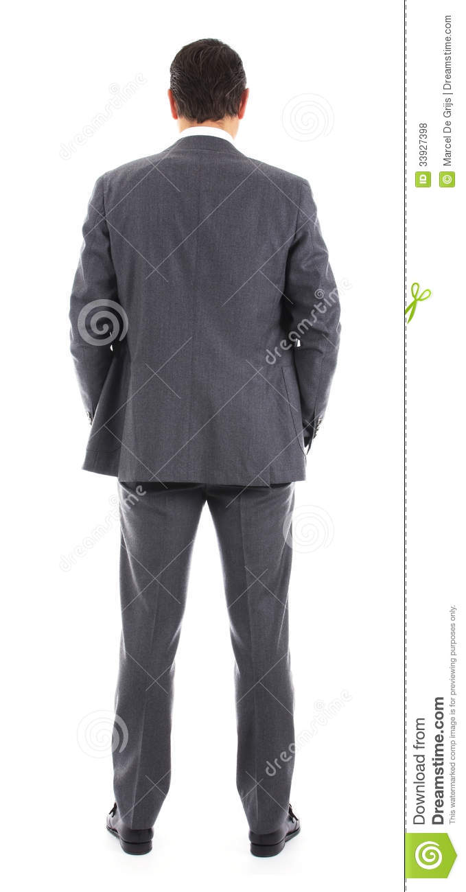 Backside of businessman