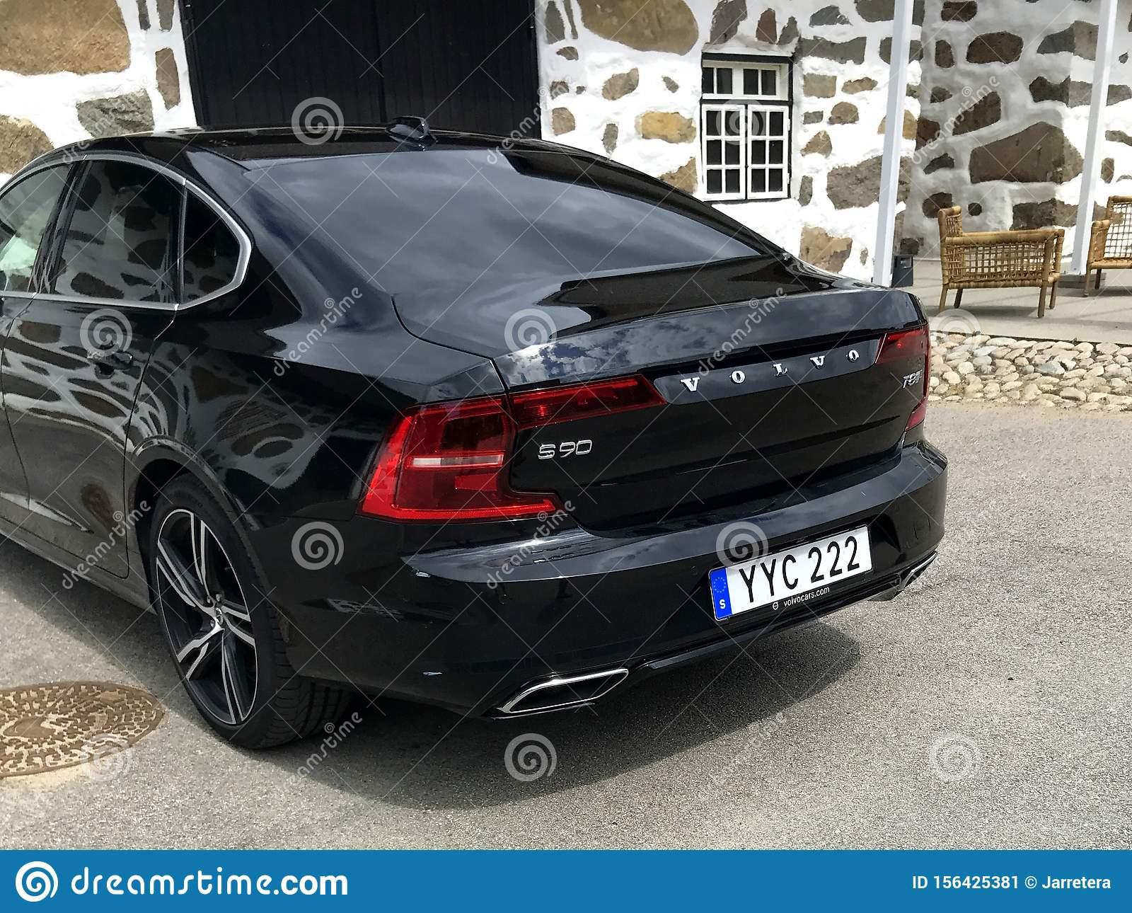 Backside Of A Parked Black Volvo S90 Editorial Photo Image Of Europe Parked 156425381
