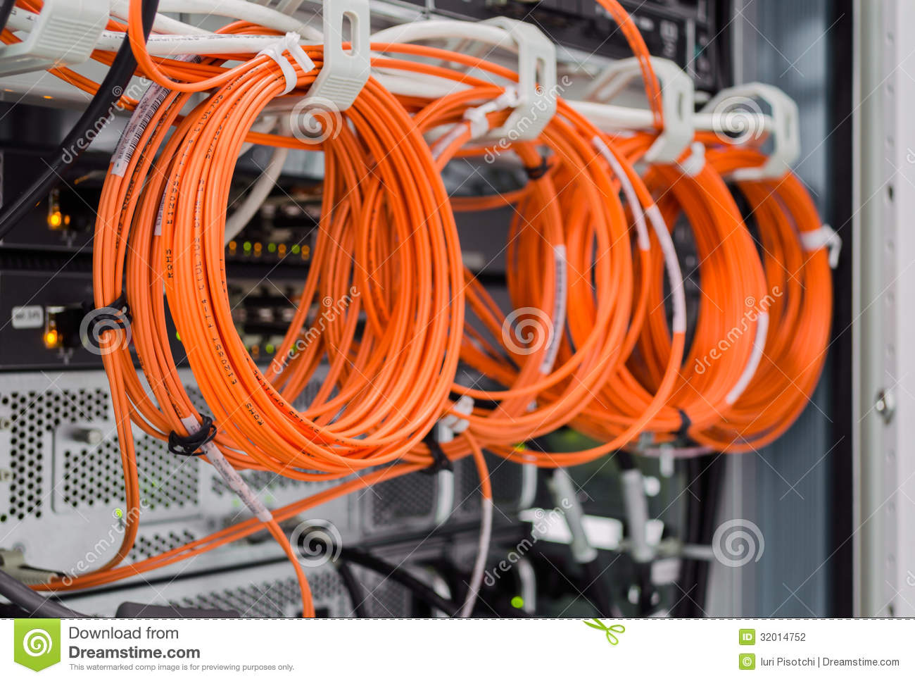 Backside Of Server Rack Stock Photography Image 32014752
