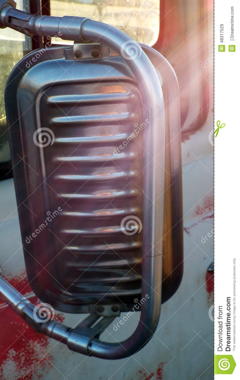 Backside Of Truck Mirror Stock Photo Image 48317529