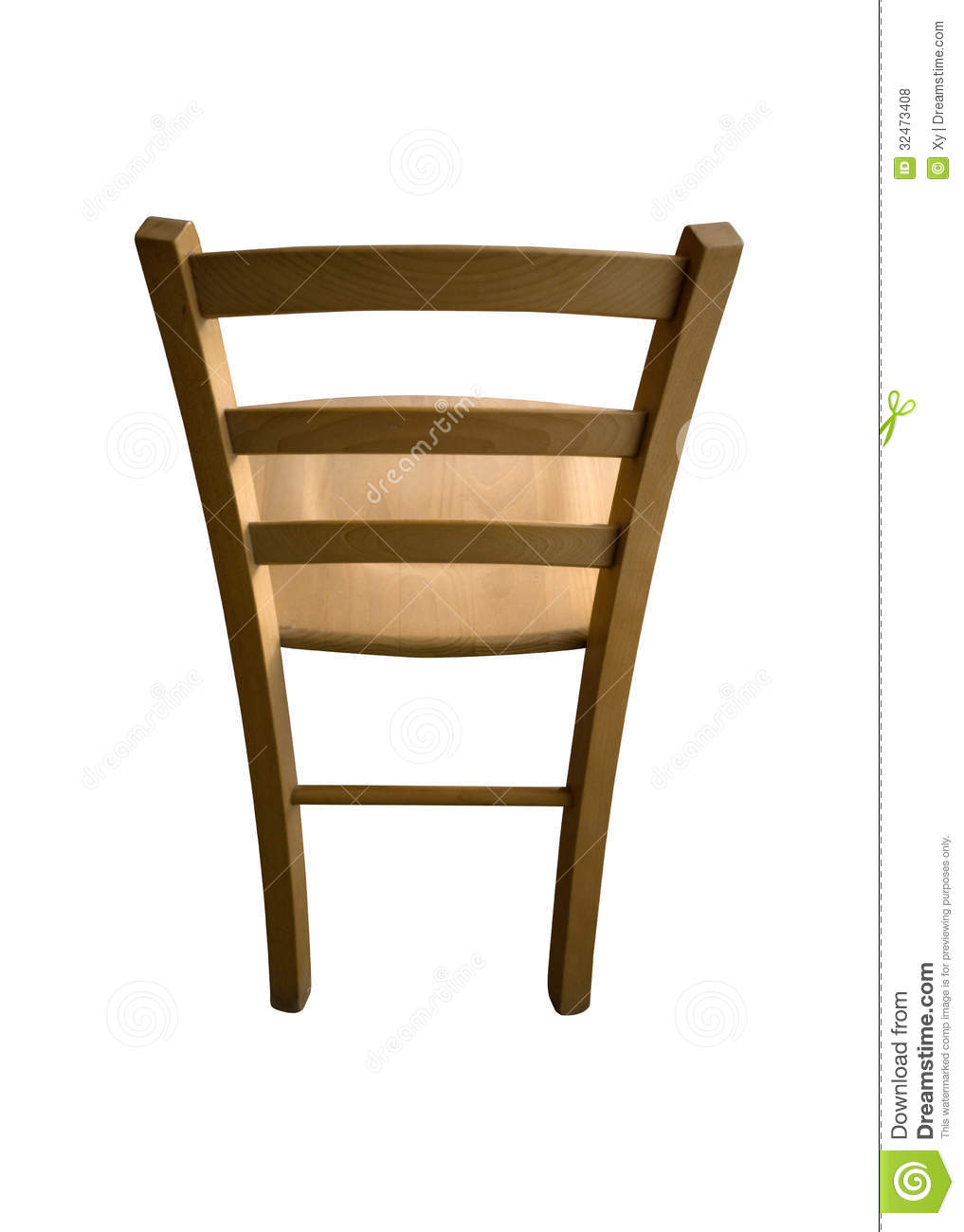 Backside Of A Wooden Chair Royalty Free Stock Photos