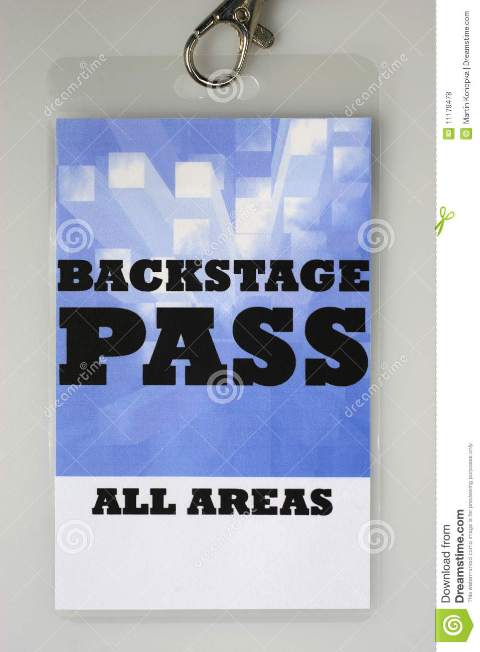 Backstage pass royalty free stock photos image 11179478