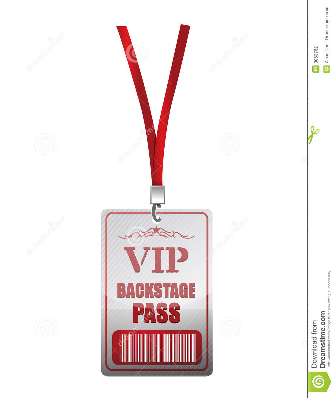 Backstage Pass Vip Illustration Design Stock Image Image