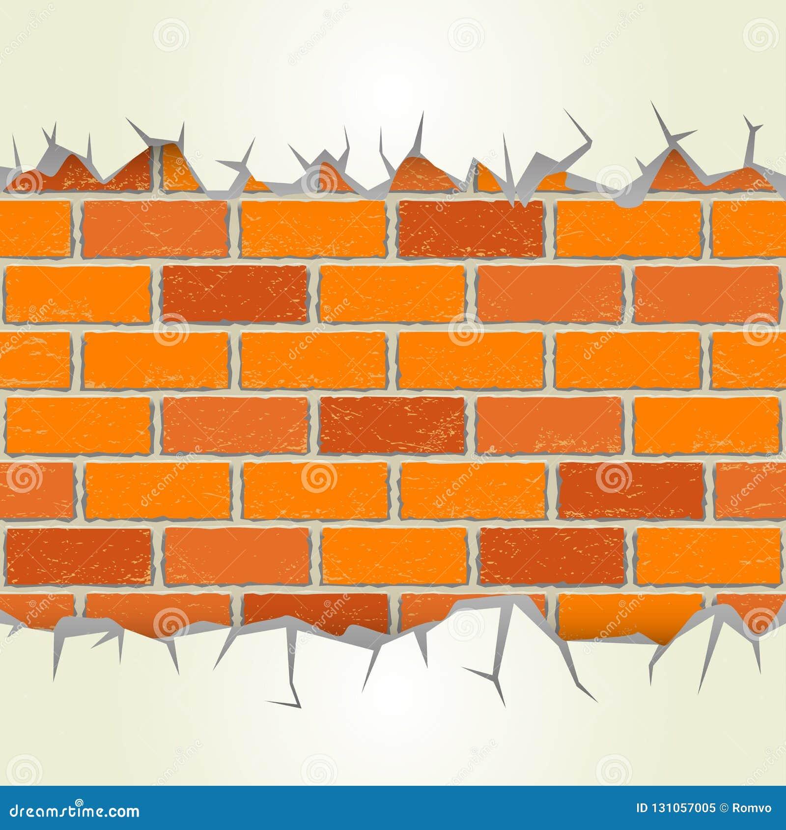 Backsteinmauergipssprünge