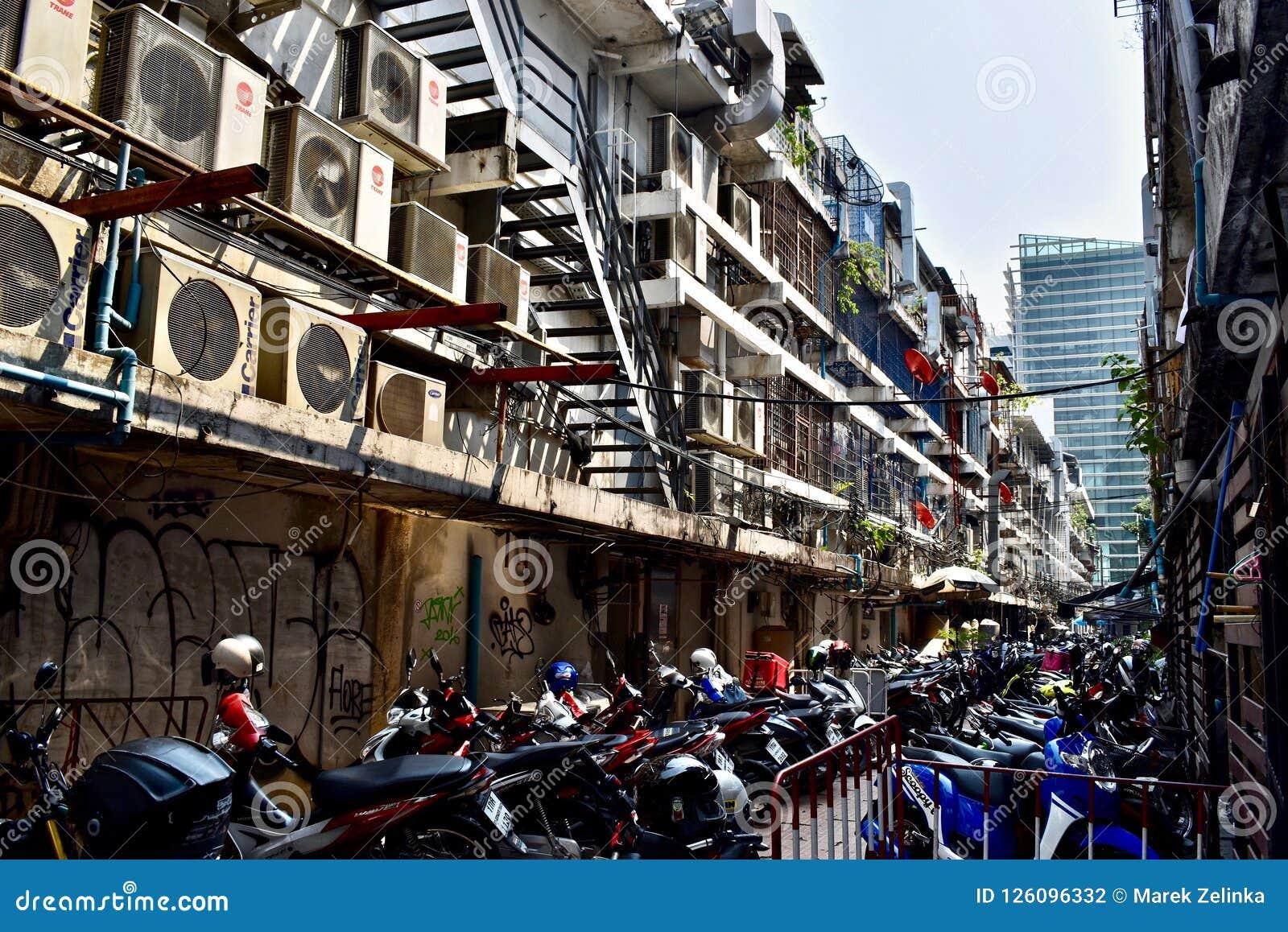 Backstreet w Bangkok Tajlandia