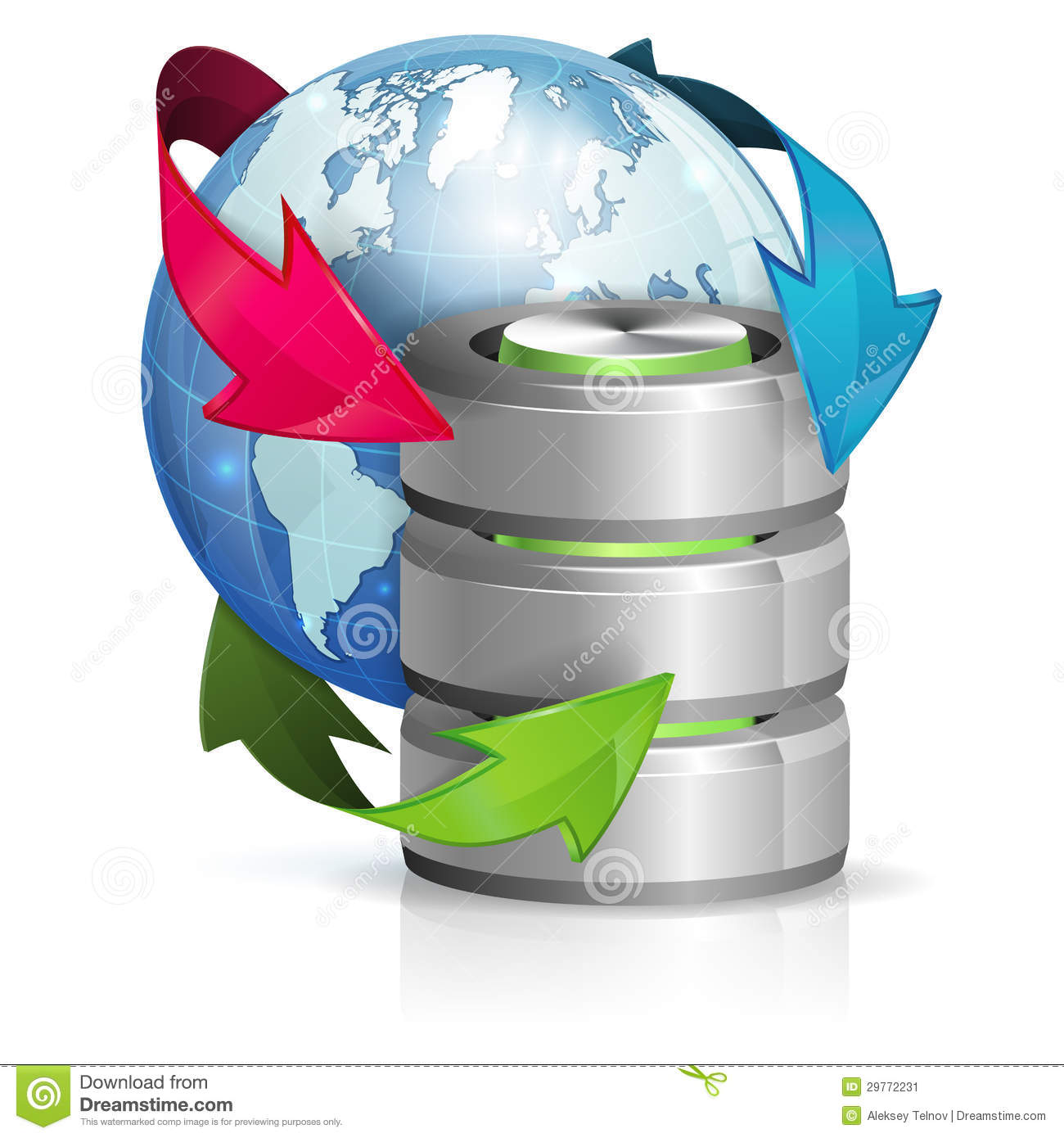 Global Access And Backup Concept Stock Image Image 29772231