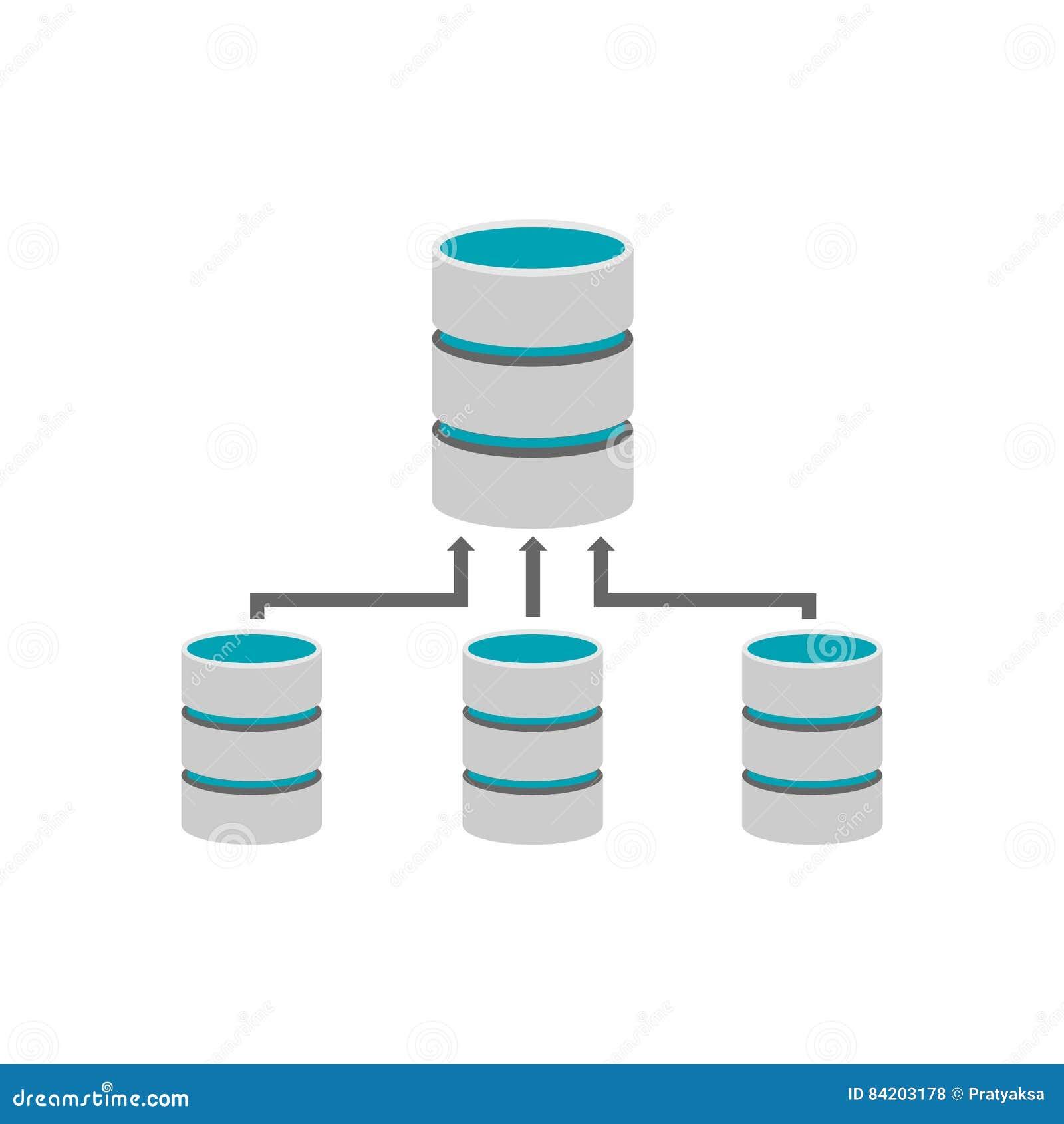 Backup Database. Database Management Stock Vector - Image: 84203178