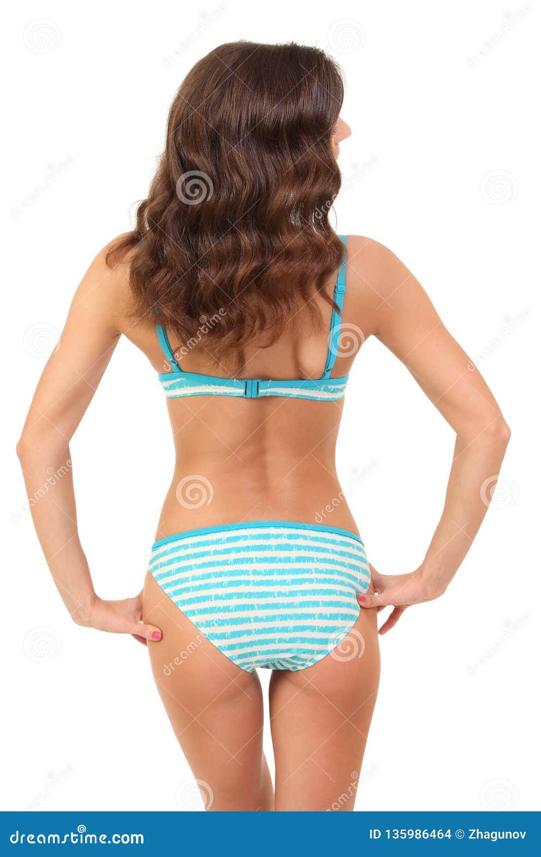 Backview do biquini vestindo fêmea