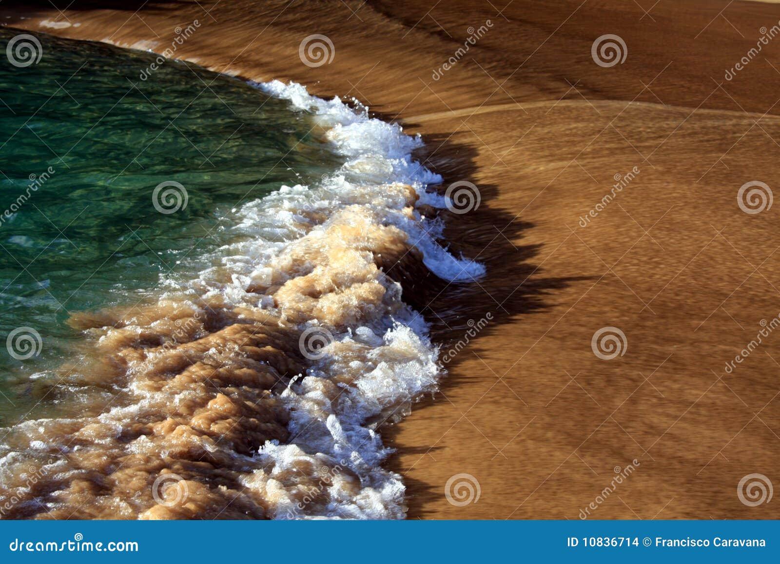 Backwash wave