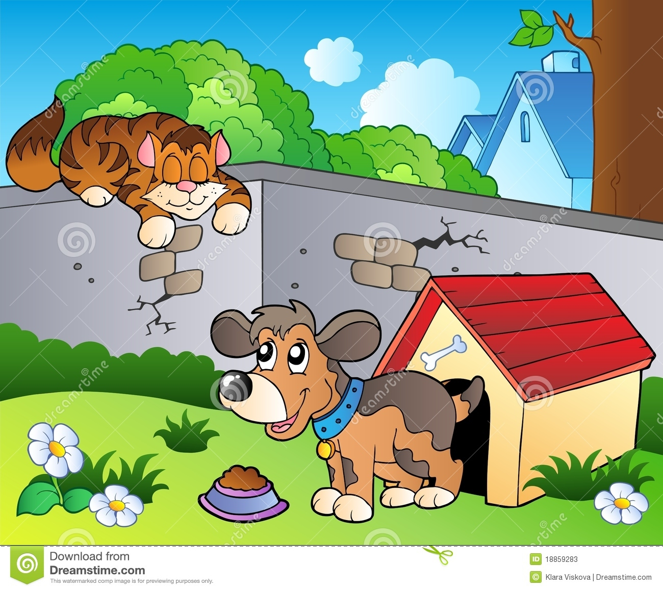 Cat And Dog House For Garden
