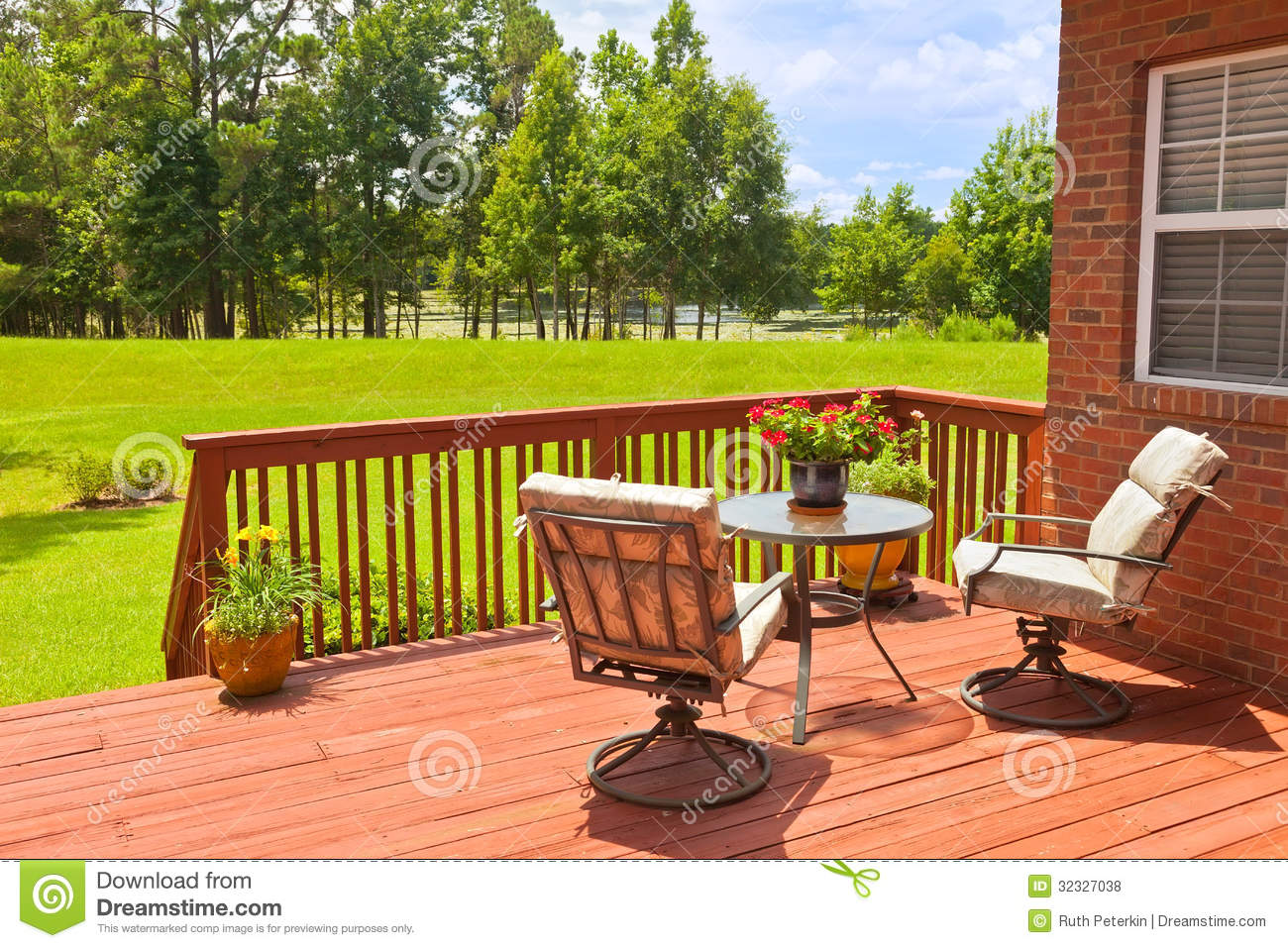 Backyard Deck Royalty Free Stock Photos - Image: 32327038 on House Backyard Deck id=73827