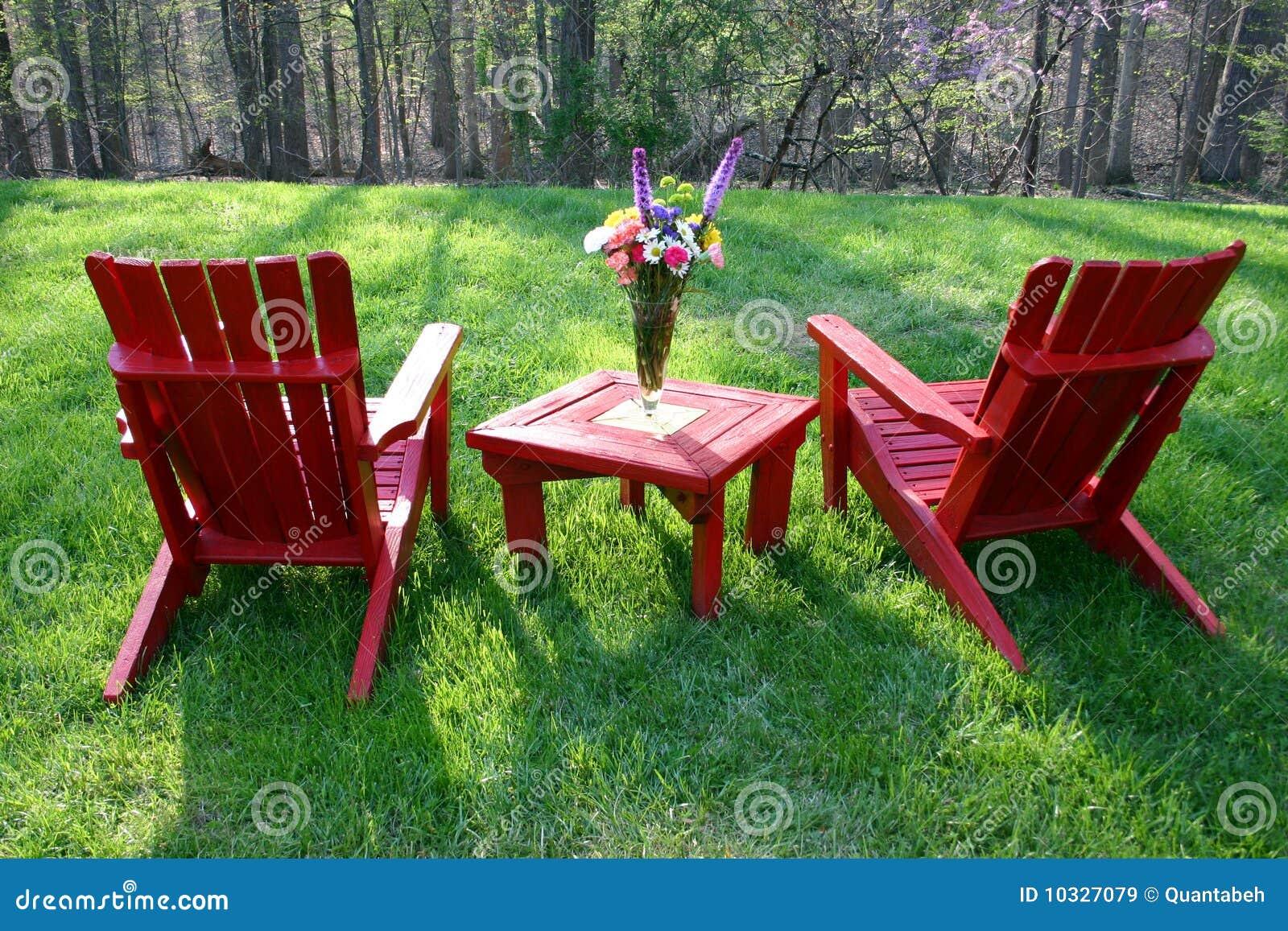 Backyard Furniture Stock Image. Image Of Furniture