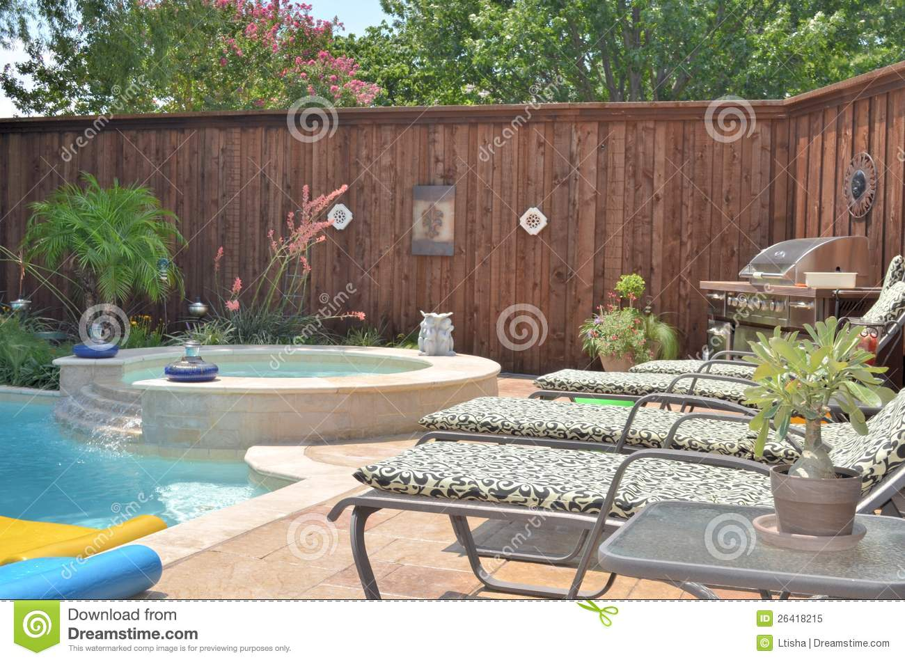 Backyard Grill Stock Image Image Of Lounge Beautiful