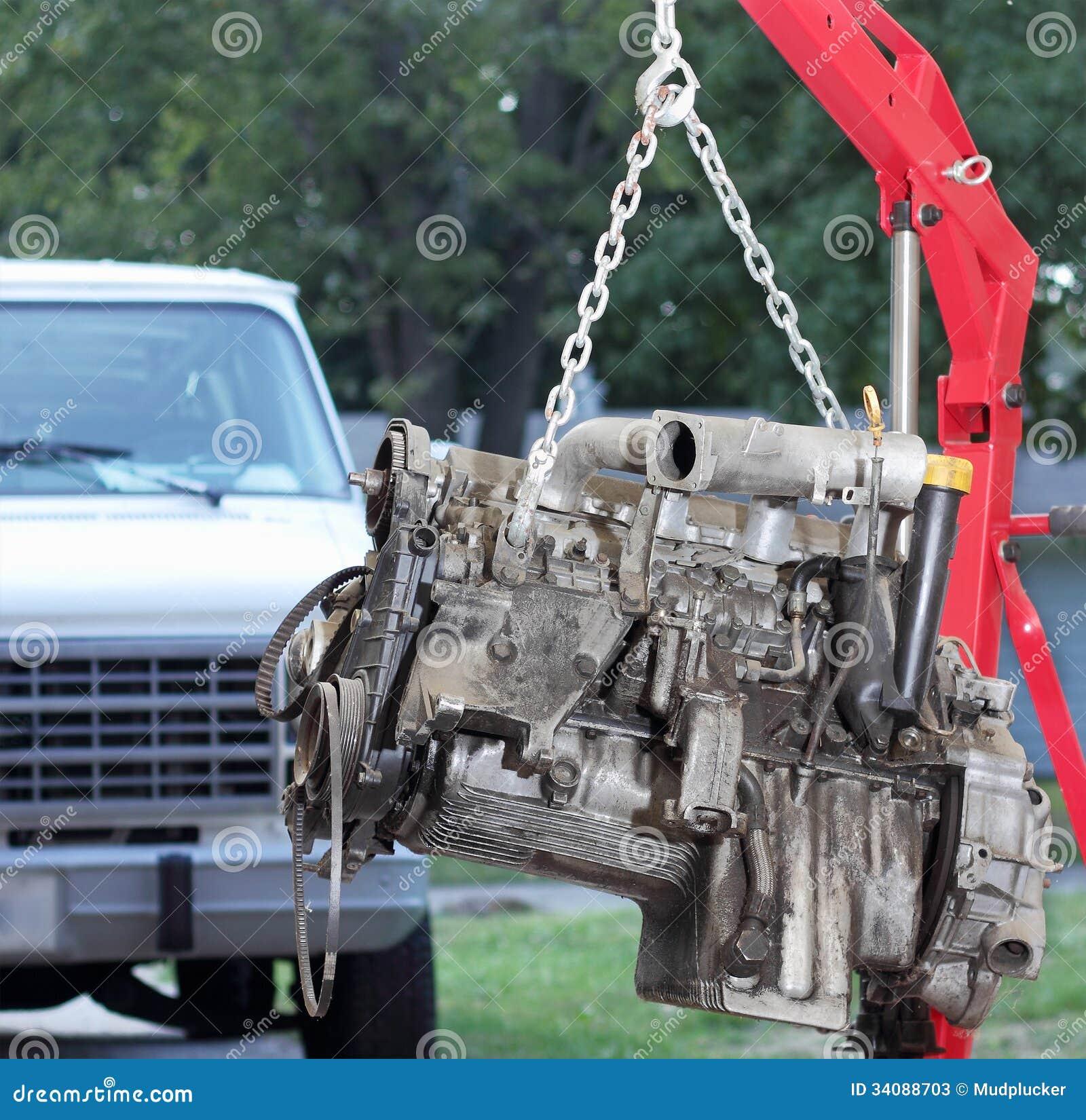 Backyard Home Mechanic Stock Photos