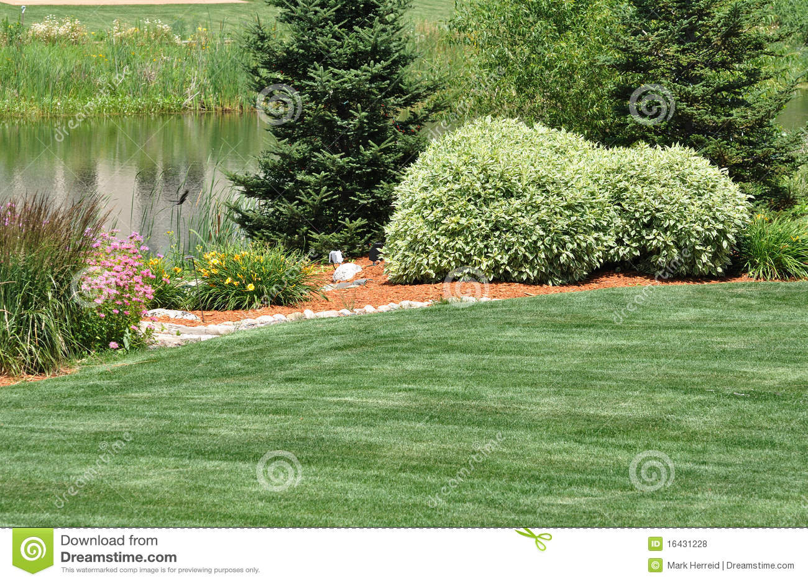 Backyard landscaping royalty free stock photos image for Sample garden landscape