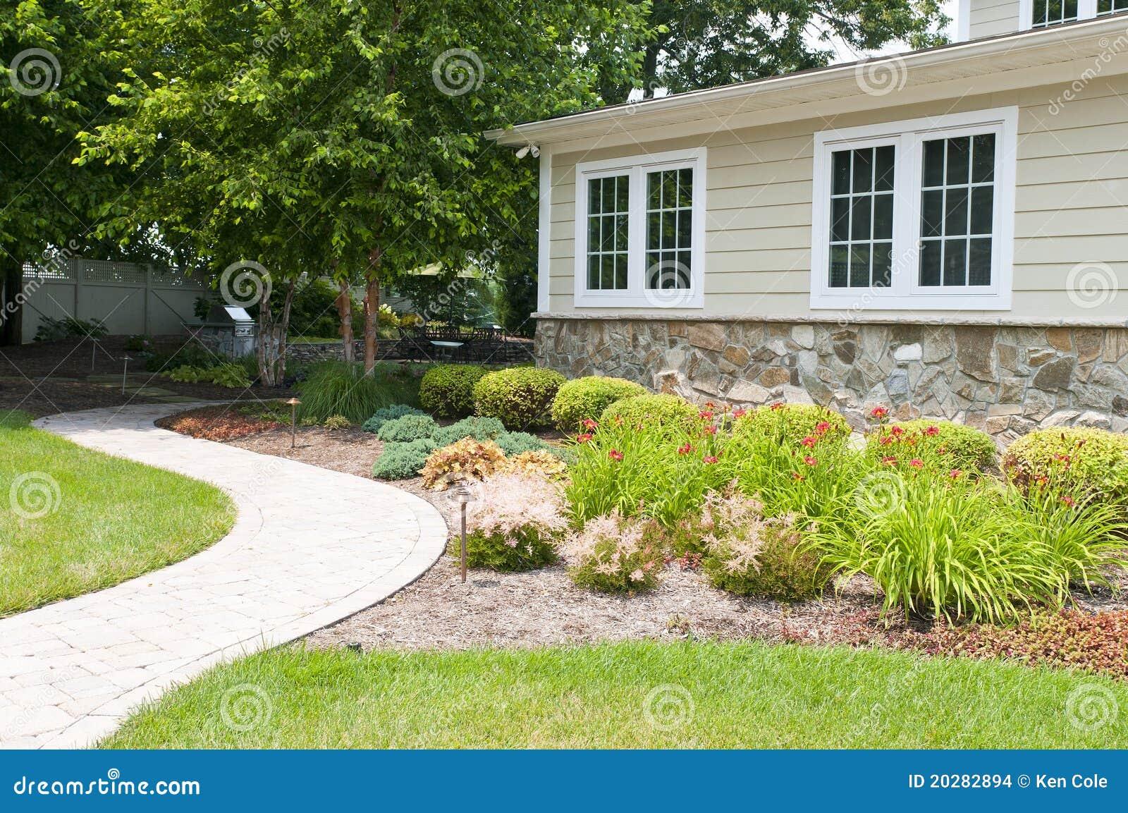Suburban Backyard Design : Backyard Landscaping Stock Images  Image 20282894
