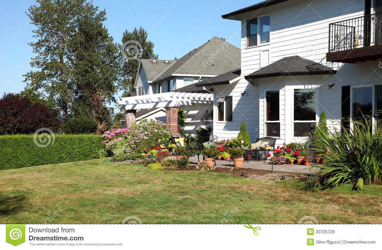 Backyard Nature Company : backyard living space backyard living space nature royalty free stock