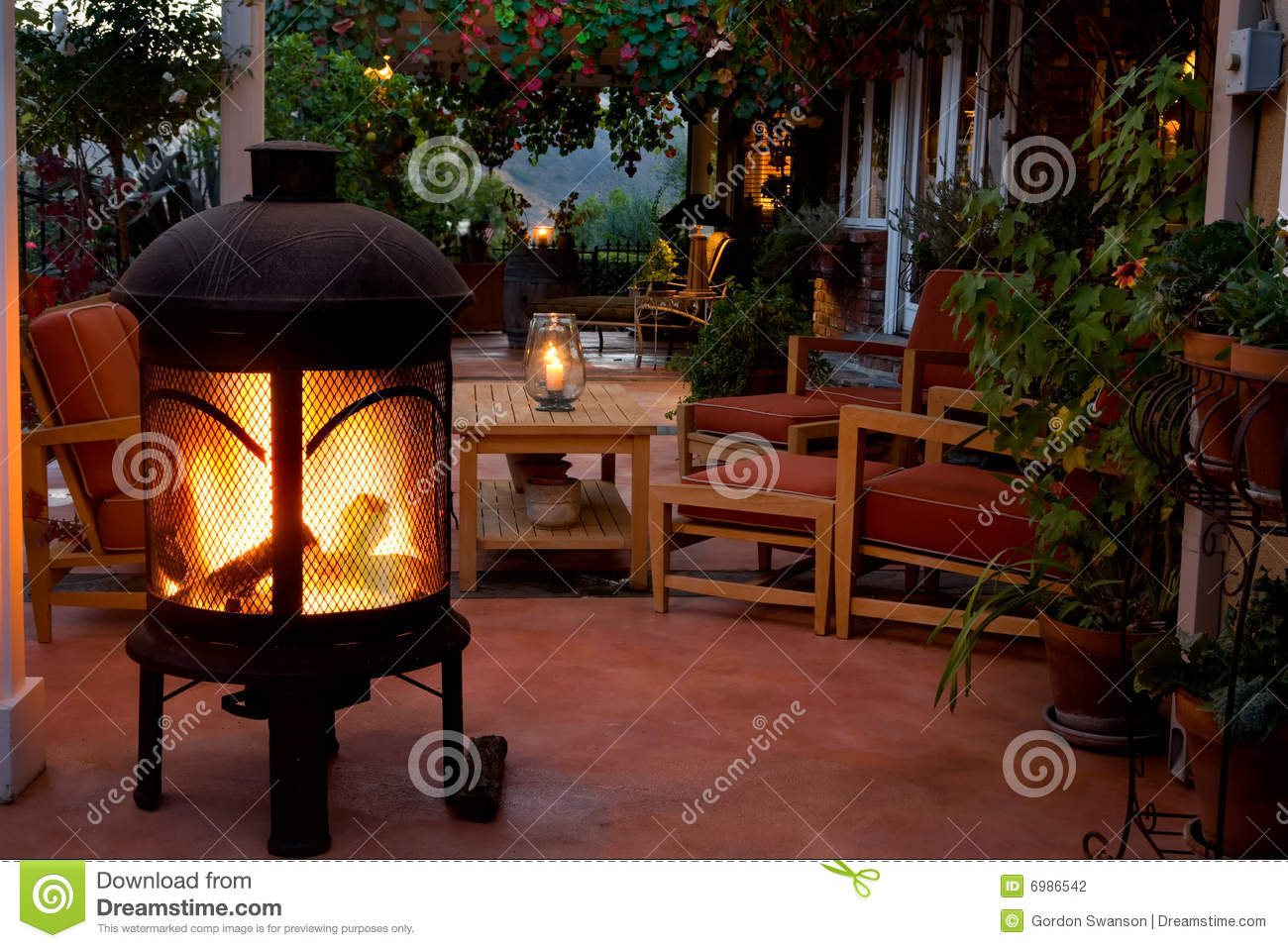 Backyard Patio And Fireplace Stock Photography - Image ...