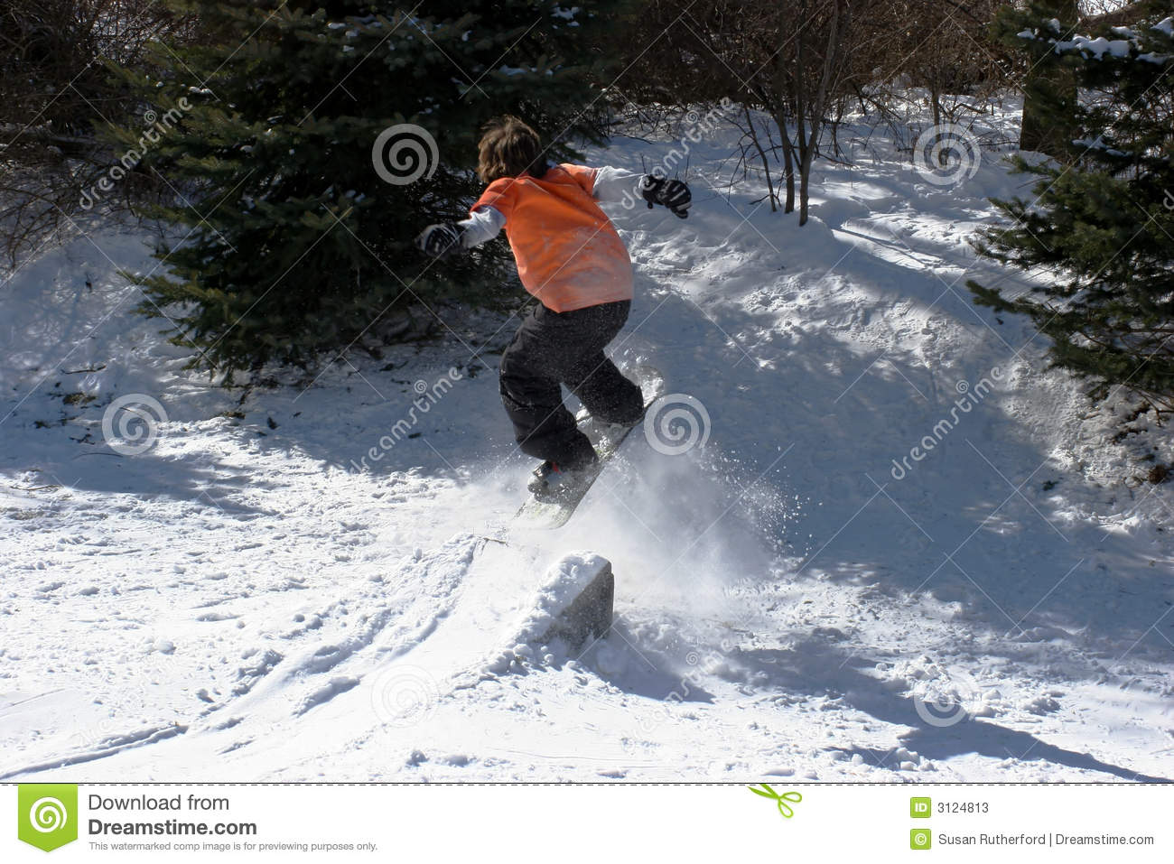 Backyard Snowboarding Stock Photos Image - Backyard snowboarding