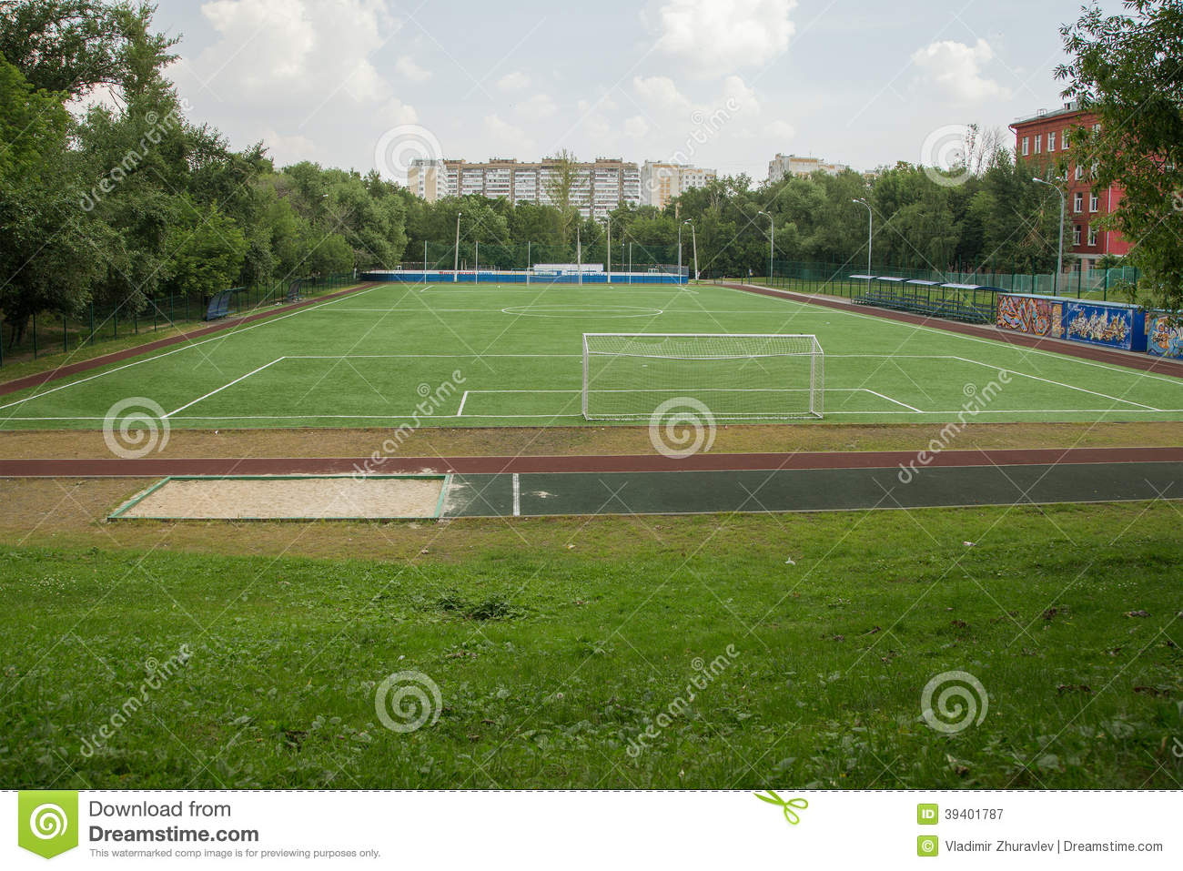 backyard soccer field moscow russia stock photo image 39401787