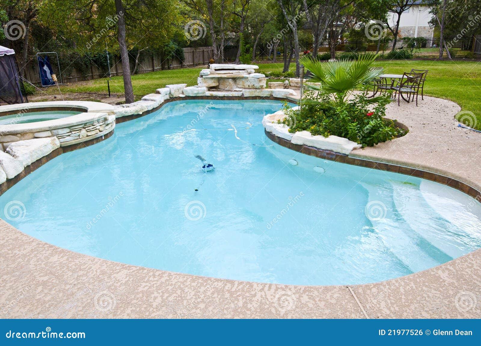 Backyard Swimming Pool Royalty Free Stock Image Image 21977526