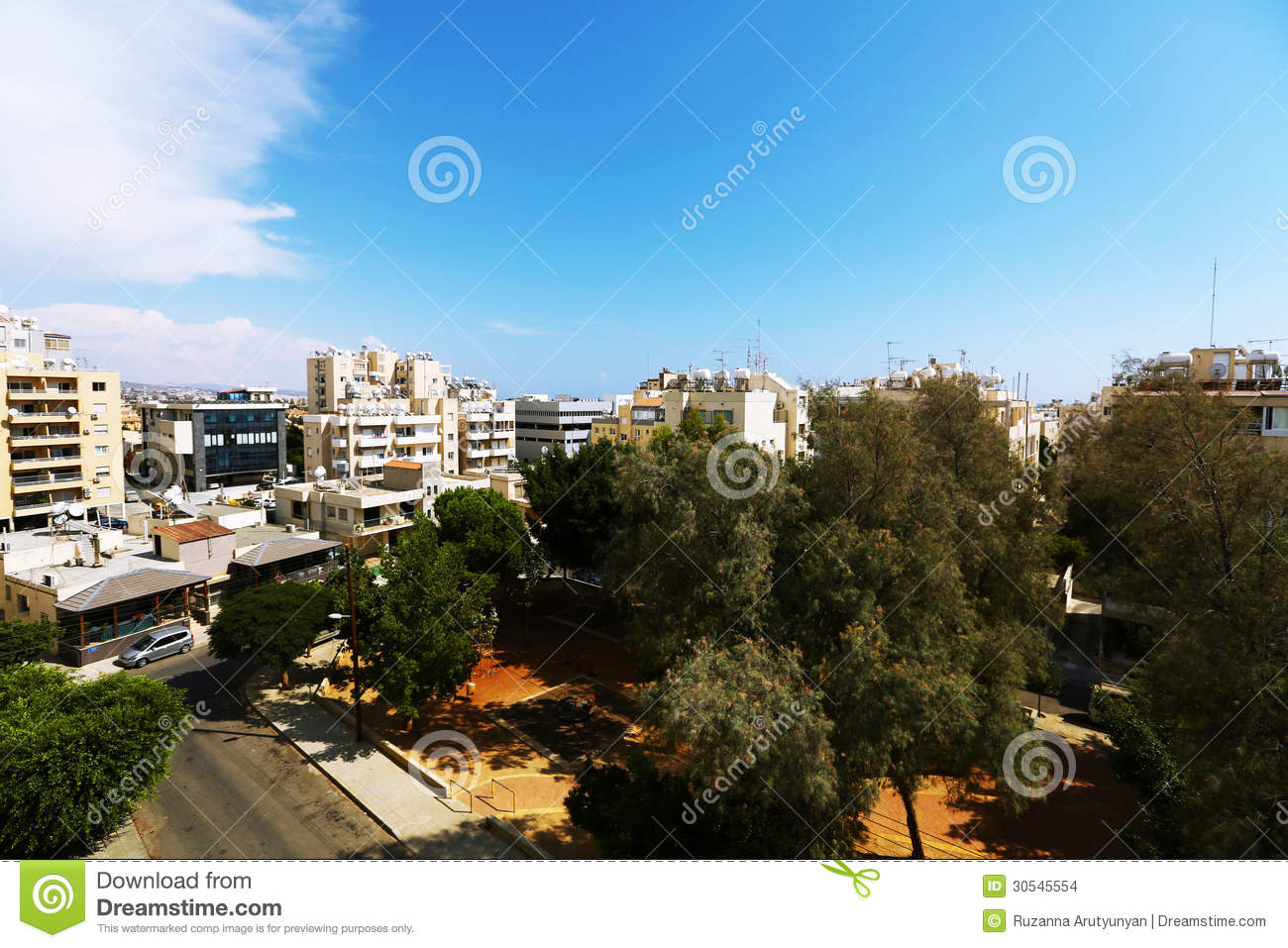 backyard in tropical city stock images image 30545554