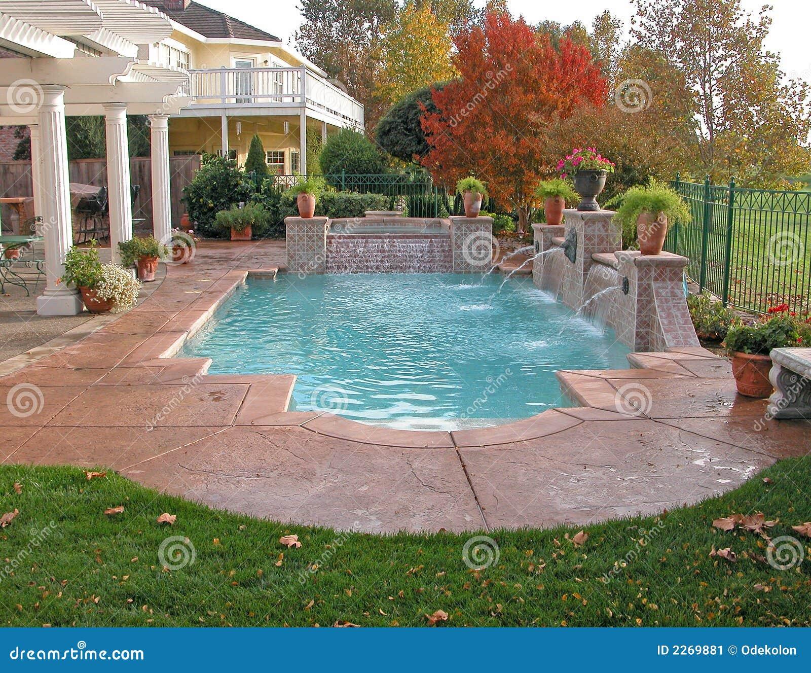 Backyard View Stock Image