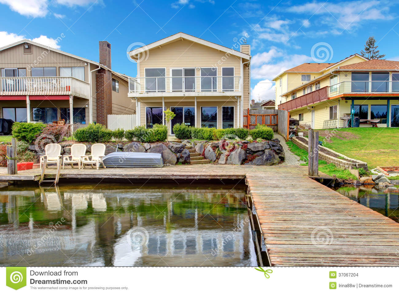 Backyard View From Dock Stock Images Image 37067204