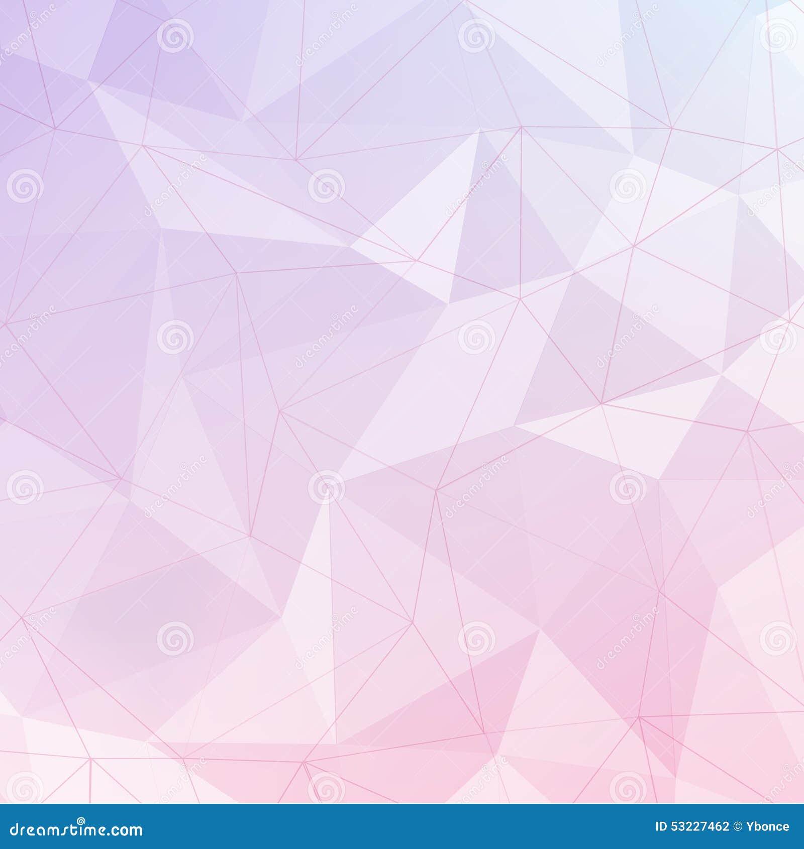 Baclground abstracto geométrico del polígono rosado y violeta con la línea
