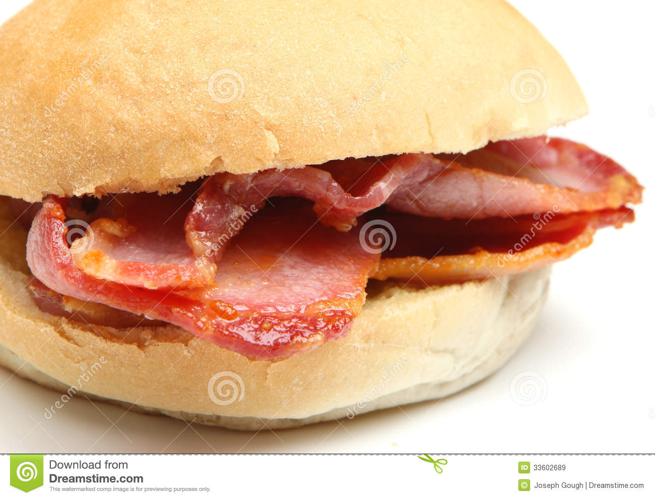 Bacon Bap Or Roll Sandwich Royalty Free Stock Images - Image: 33602689