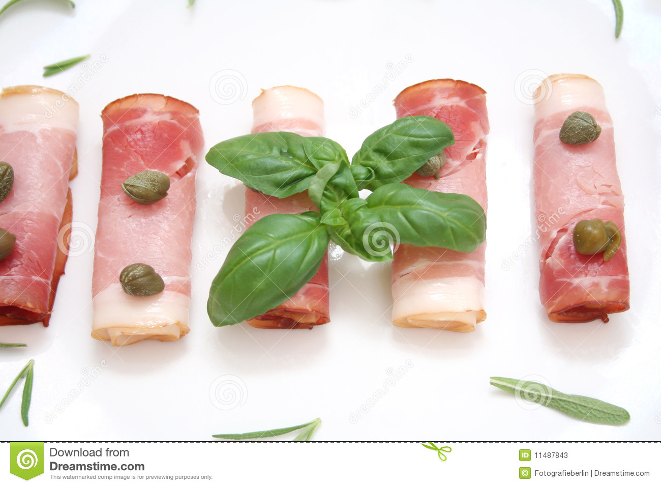 Bacon and capers