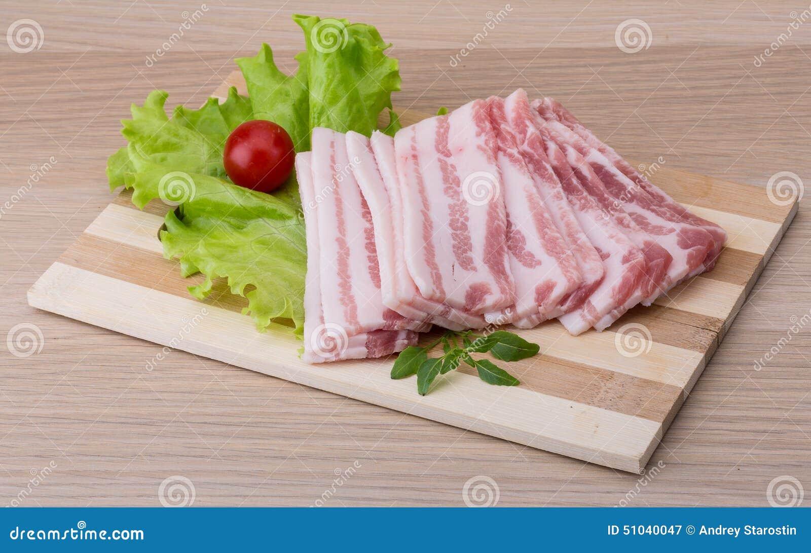 Bacon cortado