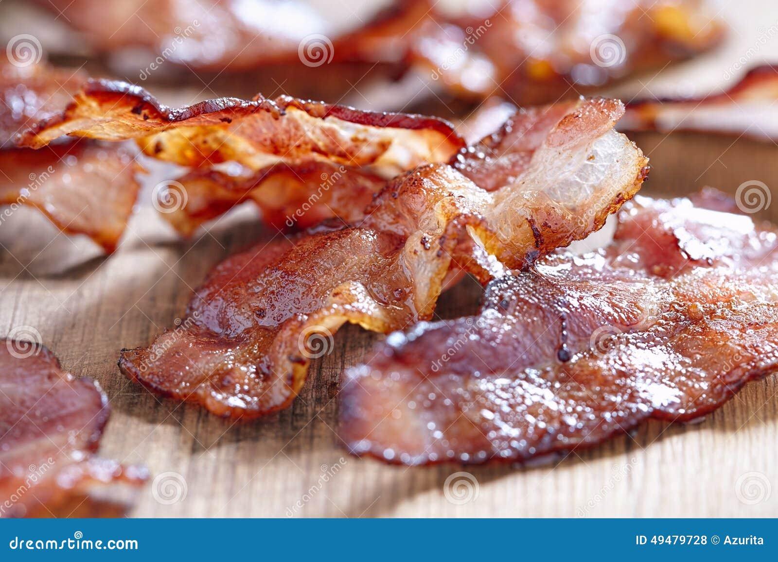 Bacon cozinhado