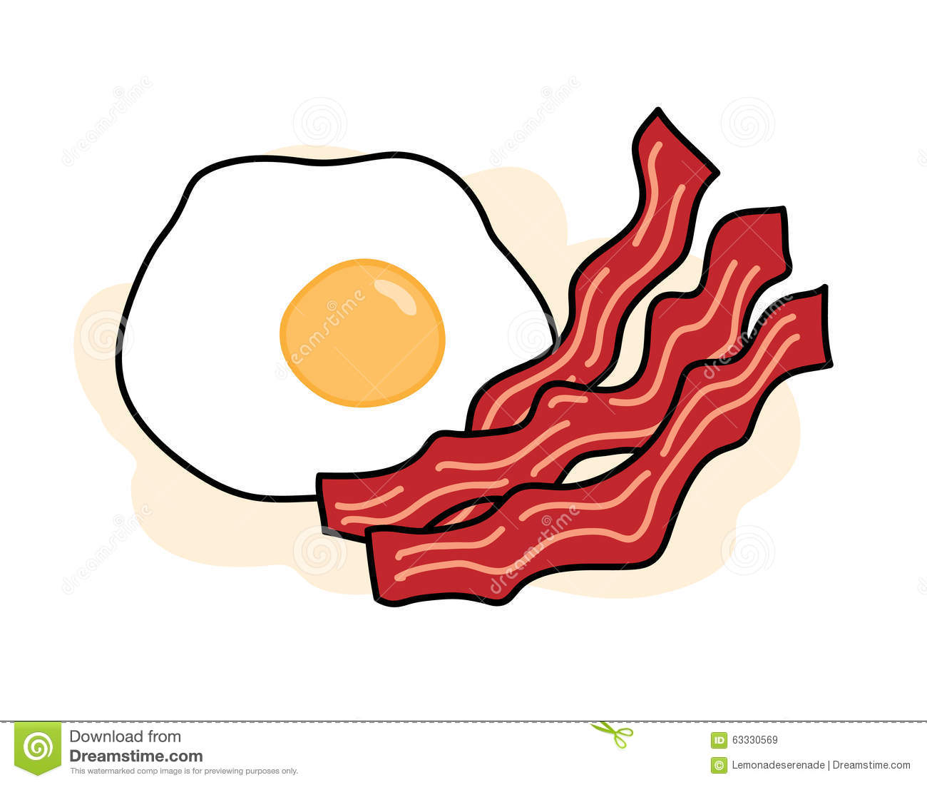 Bacon and egg stock vector image 63330569 for Illustration minimaliste