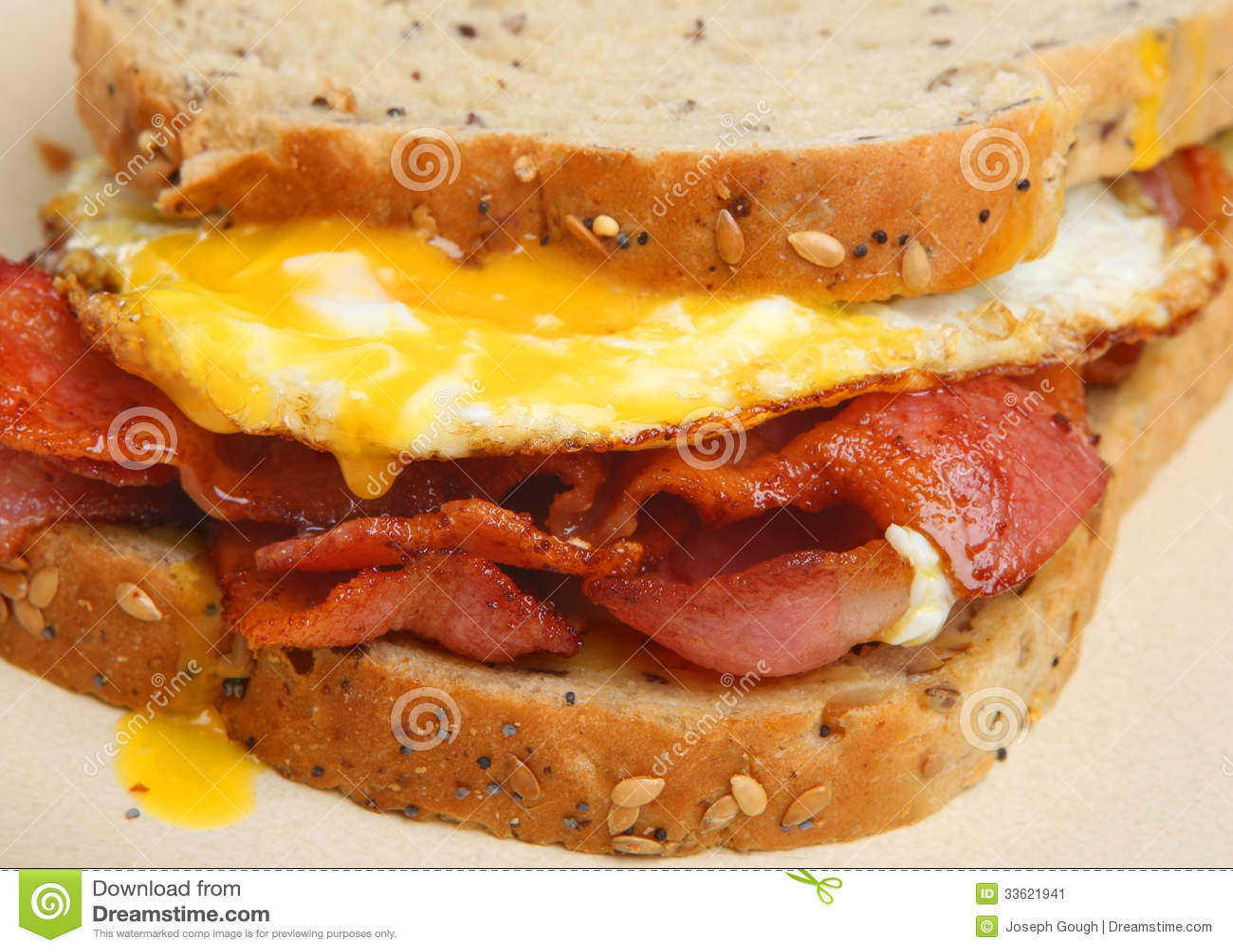 Bacon & Egg Sandwich Stock Image - Image: 33621941