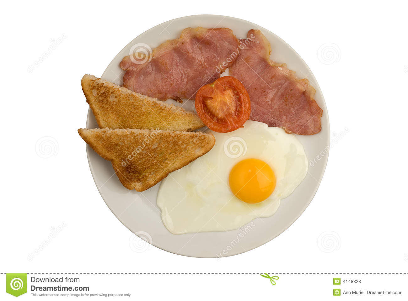bacon egg toast and tomato fried breakfast traditional english fried ...